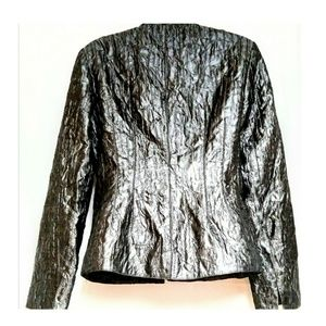 Andre Oliver Jackets & Coats - Andre Oliver Jeweled Evening Jacket Pewter Size 4